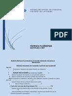 Analiză Referitoare La Proiectarea Și Execuția Sistemelor Mecanice Și Mecatronice