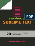 Guia Rápido Do Sublime Text