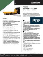 Spec Sheet 3412c 635kva Prime