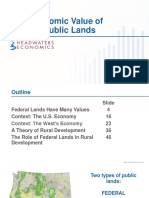 The Economic Value of Federal Public Lands