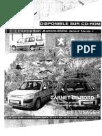 Libro de Mantenimiento Citroen Berlingo - Peugeot Partner