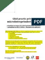 Ghid Practic Privind Microintreprinderile 2016