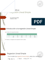 Regresion Lineal Simple - Teoria