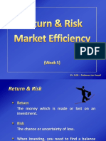 week 5 - risk   return market efficiency