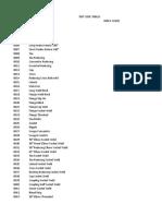 Dbt Code Table