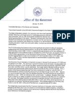 Gov. Sisolak's budget letter
