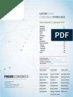 LatinFocus Consensus Forecast - January 2019