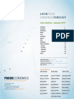 LatinFocus Consensus Forecast - January 2019