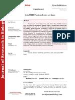 8 MRET Article MRET Water Effect on Plants JRB