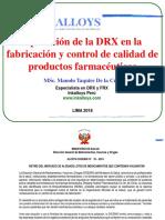 Aplicacion de La DRX en El Control de Calidad de Fármacos