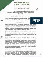 Acuerdo N° 177 de 2017