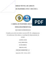 Aldaz Chipantiza Moreta Vega - Convertidor e Inversor DC-AC, Configuraciones de Instalaciones Fotovoltaicas y Tecnología de Almacenamiento de Energía.