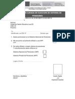 Declaracion Jurada de Eleccion de Sistema de Pensiones Ugel 03