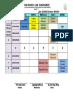Horario de Examenes 1º Parcial