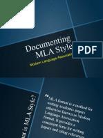 Documenting MLA Style