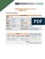 Estructura Plan Contingencia Para Lluvias II.ee -2018