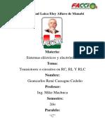 Transistores RC, RL y RLC