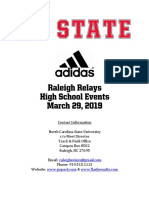 2019 Raleigh Relays High School Meet Information