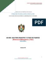 GUIA FACEA -UNSCH Para Registro y Citado de Fuentes PDF Octubre 2016