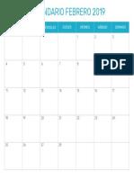calendario-febrero-2019
