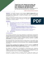 Contrato de Trabajo vs. Contrato de Prestación de Servicios (i Parte)