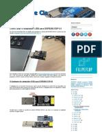 Como Usar o Adaptador USB Para ESP8266 ESP-01 - Arduino e CIA