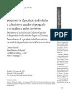 Capacidades Individuales y Capacidades Colectivas en Estudios de Posgrado