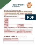 Formato de solicitud de adopción de gatos