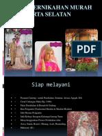 Paket Pernikahan Murah Di Jakarta Selatan