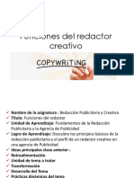 Funciones Del Redactor Creativo