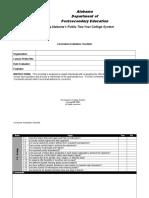 Lesson Evaluation Checklist
