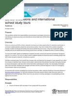 school excursion procedures
