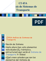 Analisis del sistema de transporte