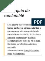 Hierarquia do candomblé