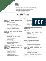 Itvision - e - Autocad - Level 1