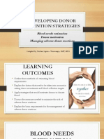 Developing Donor Retention Strategies