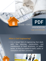 civil engineering orientation