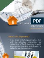 civil engineering orientation