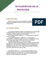 Aportes filosóficos a la psicología