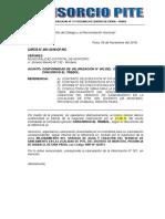 Carta Nº 001-2018 Alcanzo Valorizacion de Obra Nº 01 de Ejecutora