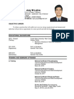 My Resume Joey 2