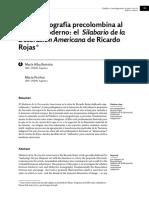 De La Iconografía Precolombina Al Diseño Moderno El Silabario de Ricardo Rojas