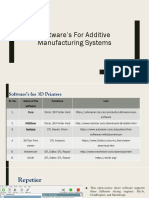 Software's for Additive Manufacturing Systems
