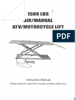 Motorcycle Lift BW-1500AO-V2