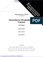 Marketing for Hospitality and Tourism 6th Edition Kotler Solutions Manual