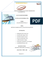 1. Métodos Numéricos en La Solución de Matrices