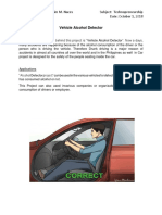 Vehicle Alcohol Detector