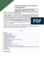 Convencion de Los Derechos de Personas Con Disca