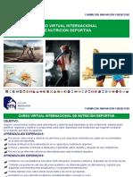 PDF Informativo de Nutrición Deportiva Extranjeros.