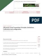 Ultrasonic Level Transmitter Principle, Limitations, Calibration and Configuration Instrumentation Tools